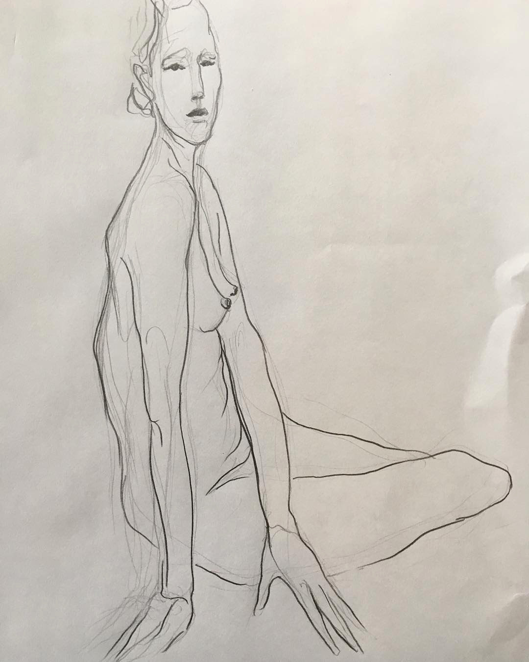 Life Drawing of Emma by Juan Gimenez Zapiola at the Dulwich Art Group and School